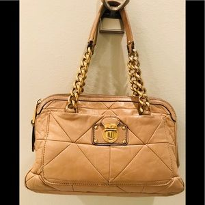 Marc Jacobs Tan Quilted Leather Shoulder Bag